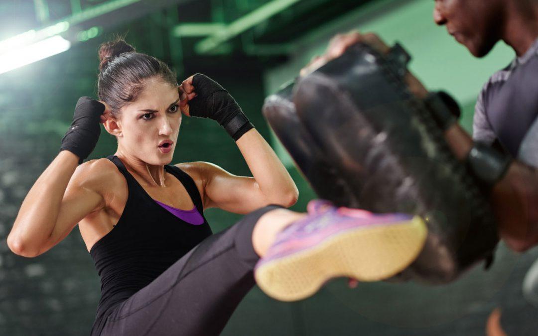 Lady boxing